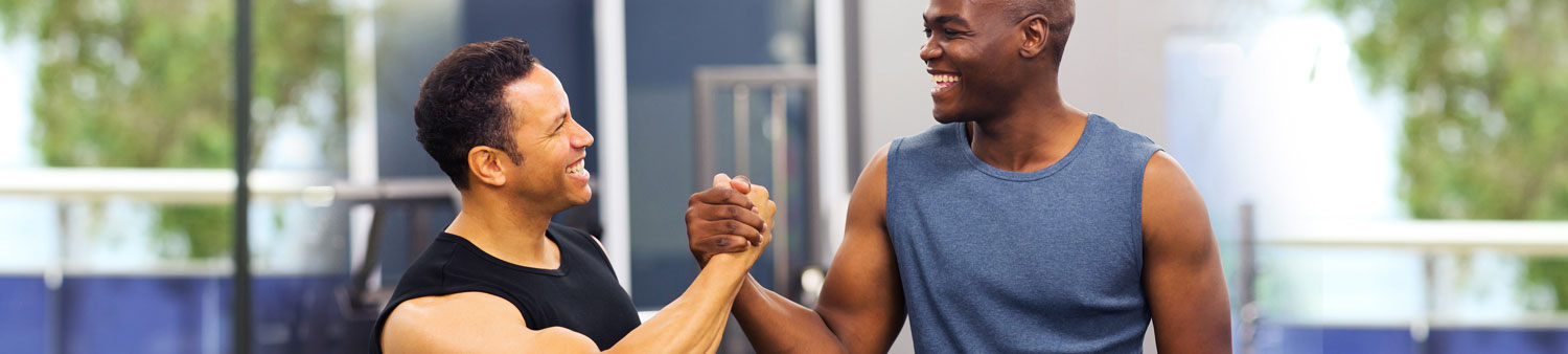 Shaking Hands after a good workout