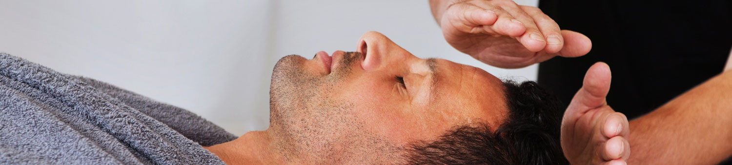 Man Having Reiki